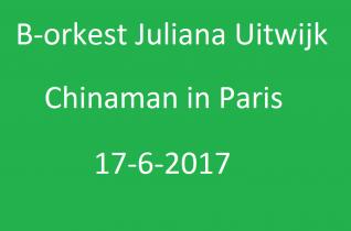 Jeugdfestival Nieuw-Lekkerland Chinaman in Paris