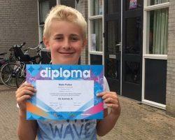 Niels geslaagd voor diploma A!